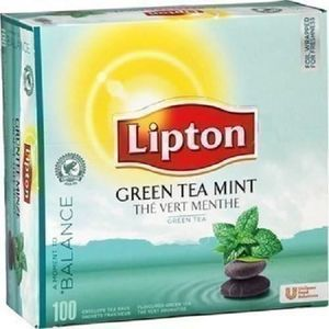 THÉ the vert menthe boite 100 sachets 160 gr lipton ne