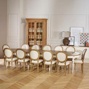 TABLE À MANGER SEULE Table de salle à manger AUDE, extensible, 4 à 16 c