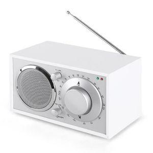 RADIO CD CASSETTE OneConcept Lausanne Radio Vintage FM AUX -blanche
