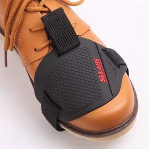 COULEUR: Noir Prot/ège-levier de levier de vitesse universel pour moto Chaussette en caoutchouc Prot/ège-chaussures de protection Prot/ège-bo/îtier de protection pour chaussure de d/émarrage