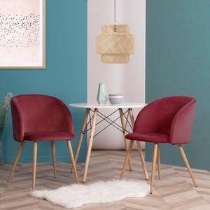 CHAISE Lot de 2 chaise scandinaves Dossier Rembourré Chai