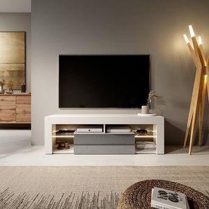 MEUBLE TV Meuble TV / Banc TV - BIANKO - 140 cm - blanc mat