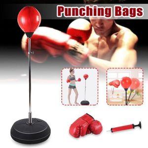 SAC DE FRAPPE Punching Balle de Vitesse de Formation Exercice av