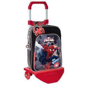 CARTABLE SPIDERMAN - Grand cartable à roulettes luxe Spider