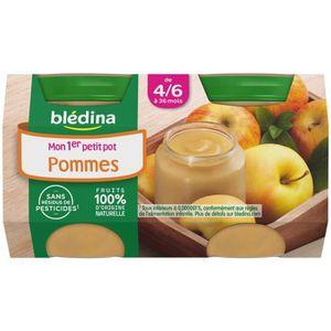 DESSERT FRUITS BÉBÉ BLEDINA mon 1er petit pot Pomme - 2x130 g - Dès 4/