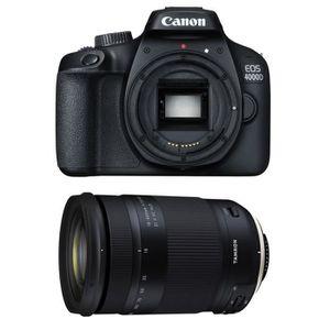 APPAREIL PHOTO RÉFLEX CANON EOS 4000D + TAMRON 18-400 f/3.5-6.3 Di II VC