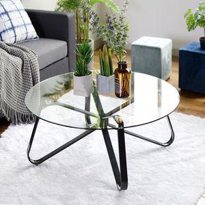 TABLE BASSE Homy Casa Table Basse Scandinave Plateau Ronde en