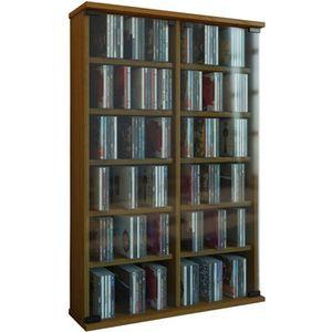 BIBLIOTHÈQUE  ROMA tour rangement bibliothèque CD-DVD 300 CD chê