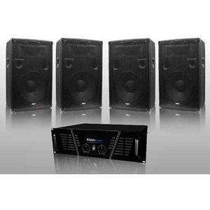 PACK SONO Pack Sono DJ ampli 1600 W + 4 HP 600W DJ-675-S