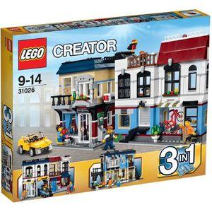 ASSEMBLAGE CONSTRUCTION LEGO® Creator 31026 Le Magasin de Vélos et le Café