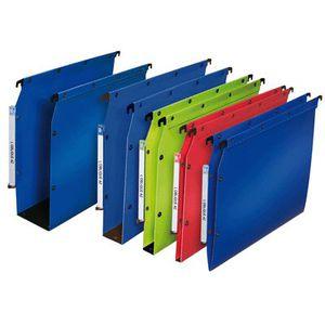 Rexel 17418DB Pack de 5 Dossiers Clipsables A4 Bleu Fonc/é