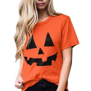 T-SHIRT huadedu   Femmes Casual manches courtes Halloween