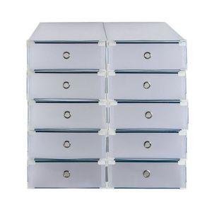 MEUBLE À CHAUSSURES Boîtes à Chaussures Organisateur 10 Tiroirs Boîte