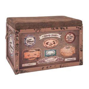 COFFRE - MALLE Coffre de rangement Parker 2 vintage-marron, L65 x