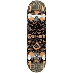 SKATEBOARD - LONGBOARD OSPREY Skateboard Double Kick Boards Candy Skull
