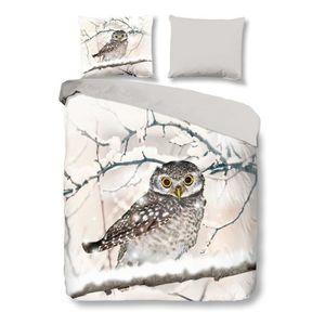 HOUSSE DE COUETTE ET TAIES Snoozing Snowy Owl housse de couette en flanelle -