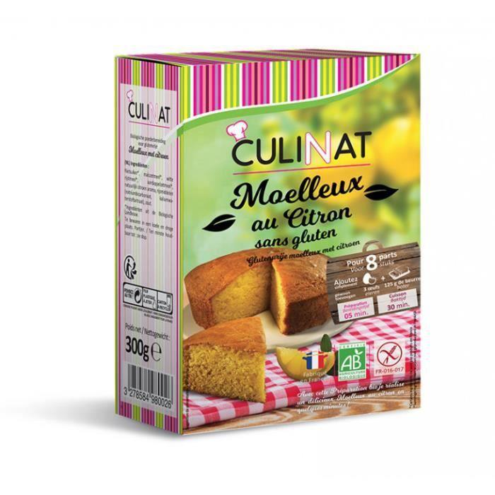 Préparation pour Moelleux au citron Bio 300g Culinat sans gluten