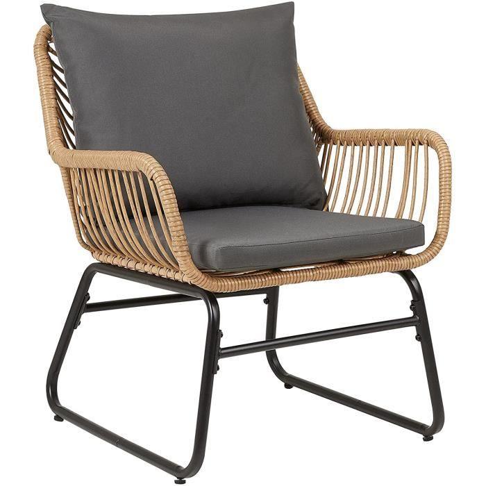 IDIMEX Chaise de Salle à Manger Albedo Imitation rotin, Fauteuil d'intérieur ou d'extérieur pour Jardin en polyrattan résistan[83]