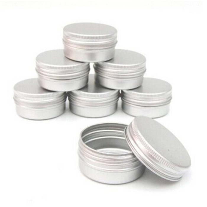 BOUTEILLE - FLACON - FLACON-POMPE 5-10-15-30-50ml petite boîte en fer blanc Mini boîte de stockage en métal Pot vide plaine - 15ml