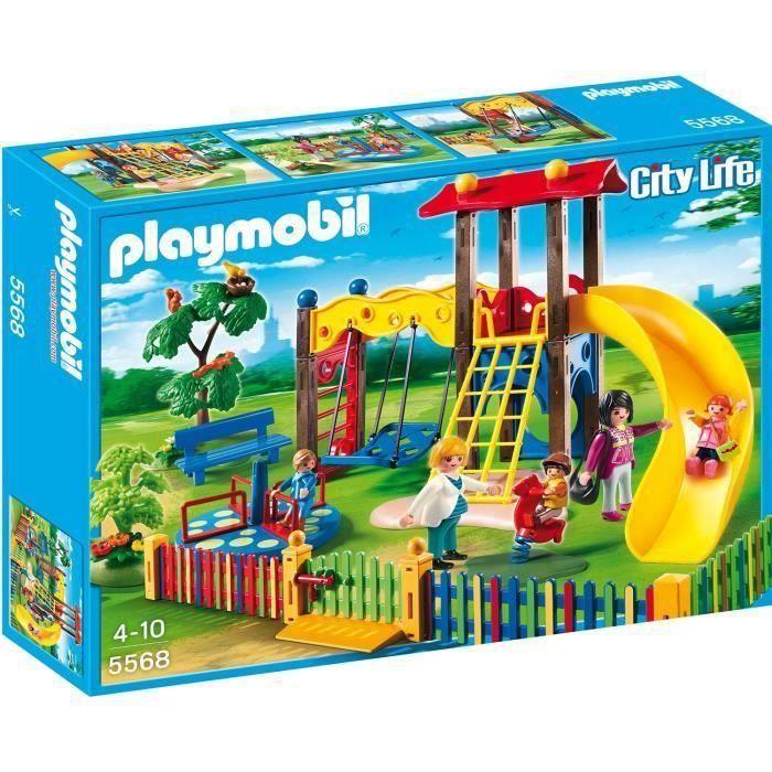 PLAYMOBIL 5568 - City Life - Square pour Enfants avec Jeux