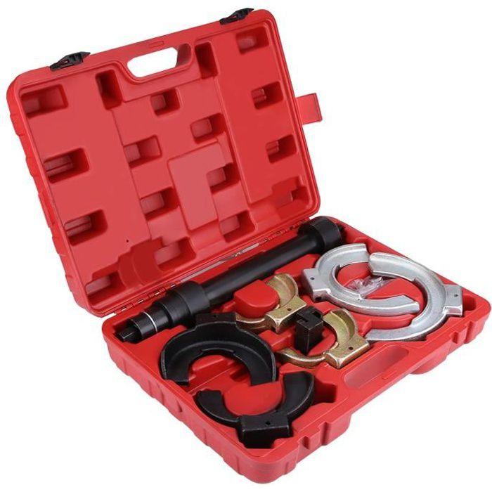 Compresseur de Ressort d'Amortisseurs Auto Moto avec Ressorts 80 mm à 190 mm + 1 Coffret Rouge HB069