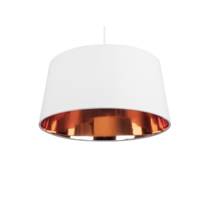 Lampe suspension blanche et dorée KALLAR