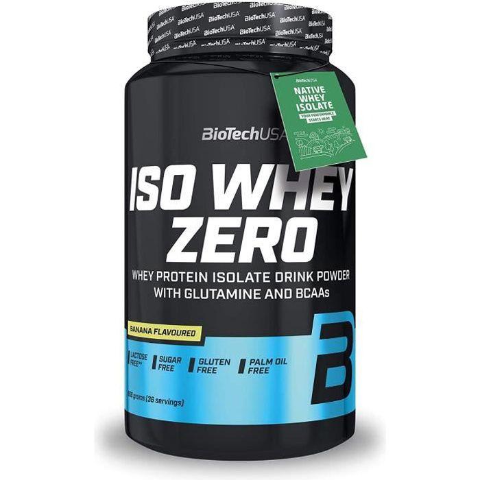 Iso Whey Zero 908g BANANE Proteine ISOLATE Biotech USA