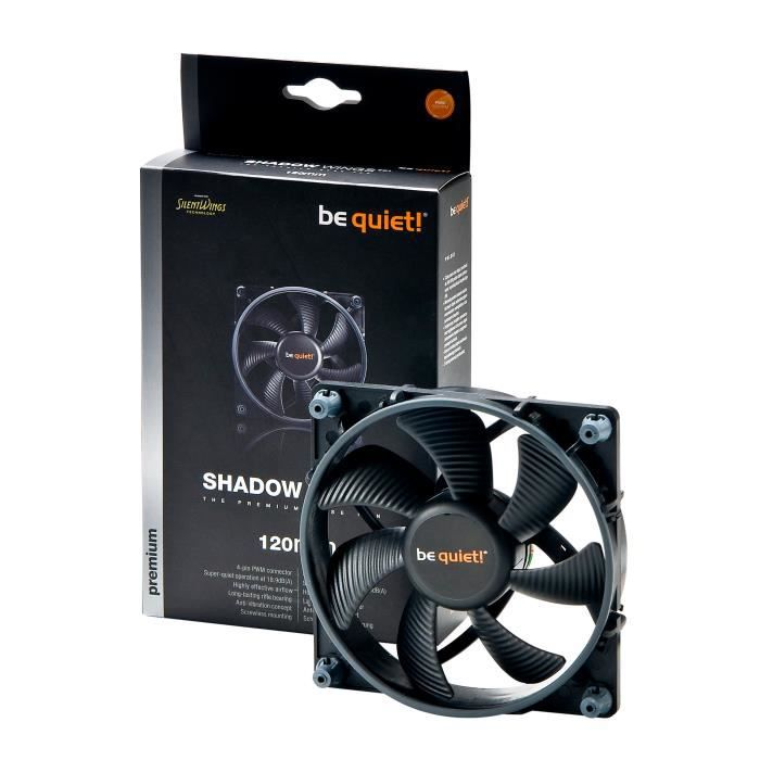 Be Quiet Ventilateur de boîtier SHADOW WINGS - PWM 120mm