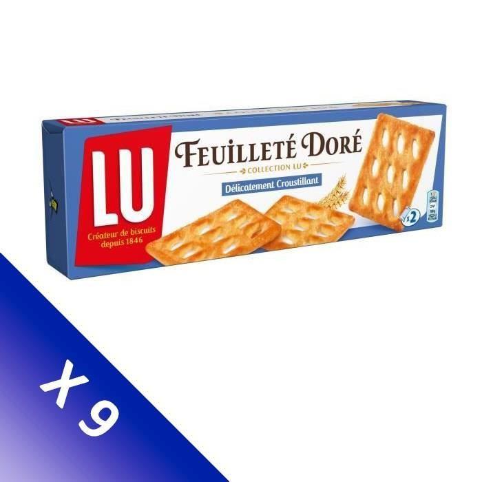 Lot de 9 LU Feuilleté doré 125g