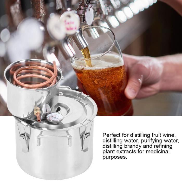 10 L Petite machine rosée pure d'équipement production d'eau distillée baril de vin ménage-YIDD