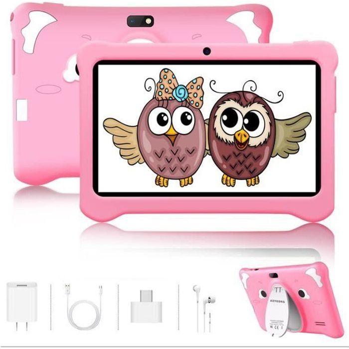 Tablette tactile Enfant,Tablette Enfant 7pouces , Android, Tablette pour Enfant 1Go RAM +16Go (Rose)