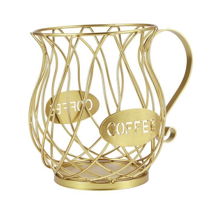 Café Pod Titulaire, Café Carrousel de Stockage Titulaire Organisateur Crèmes de Fruits Panier de Rangement Espresso Pod d'or