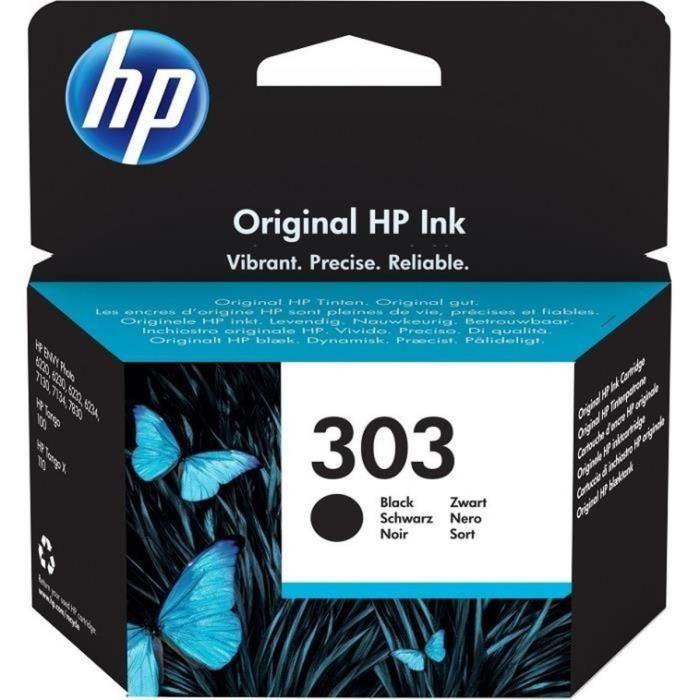 HP 303 cartouche d'encre noire authentique pour HP Envy Photo 6220/6230/7130 (T6N02AE)