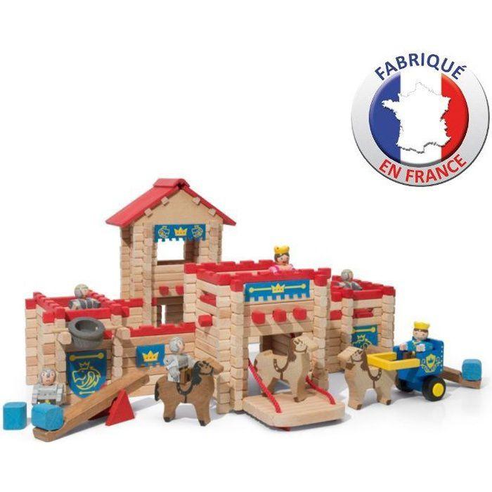 JEUJURA - Le Chateau Fort en bois - Jeu de construction - 300 pièces