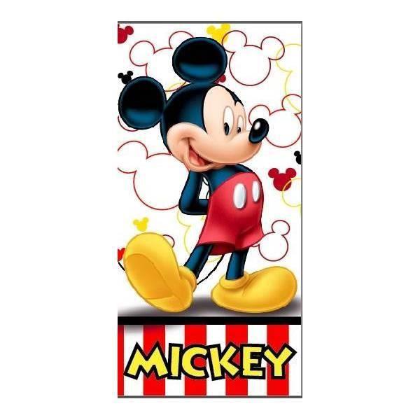 Drap de Plage Mickey 70 x 140 Serviette de Plage Polyester