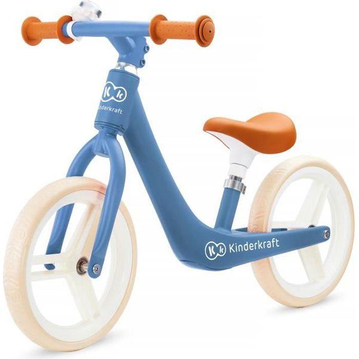 KINDERKRAFT Vélo Draisienne Fly Plus Sapphire - Bleu - Charge max 35 kg - A partir de 3 ans