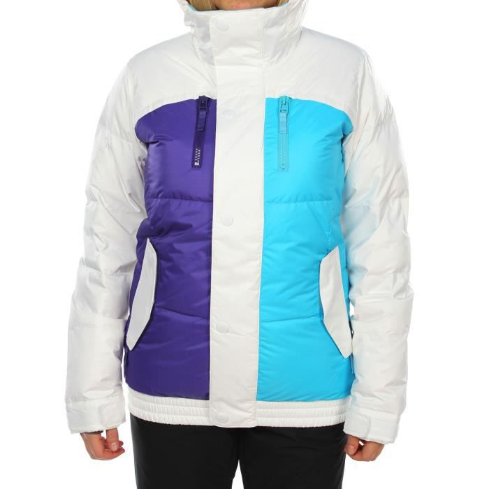 BURTON Veste Dandridge down bright - Femme - Blanc