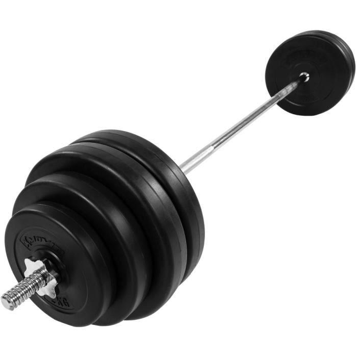 MOVIT® Haltère long 168cm, 60,5kg Chromé