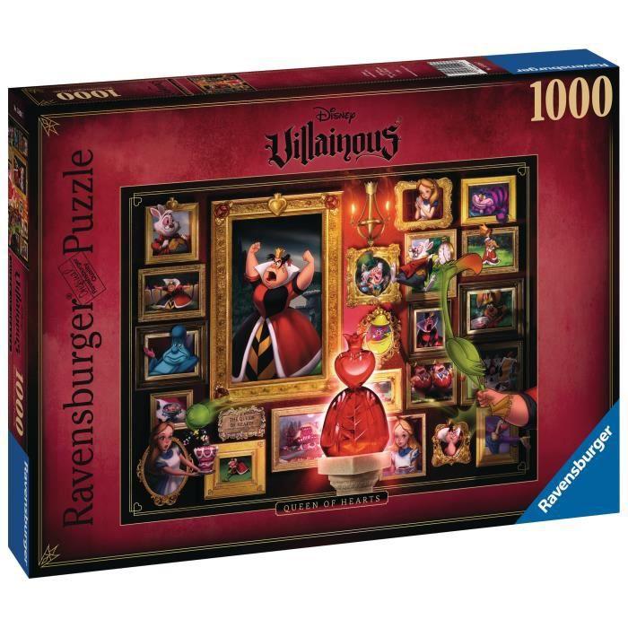 Puzzle 1000 p - La Reine de cœur (Collection Disney Villainous)