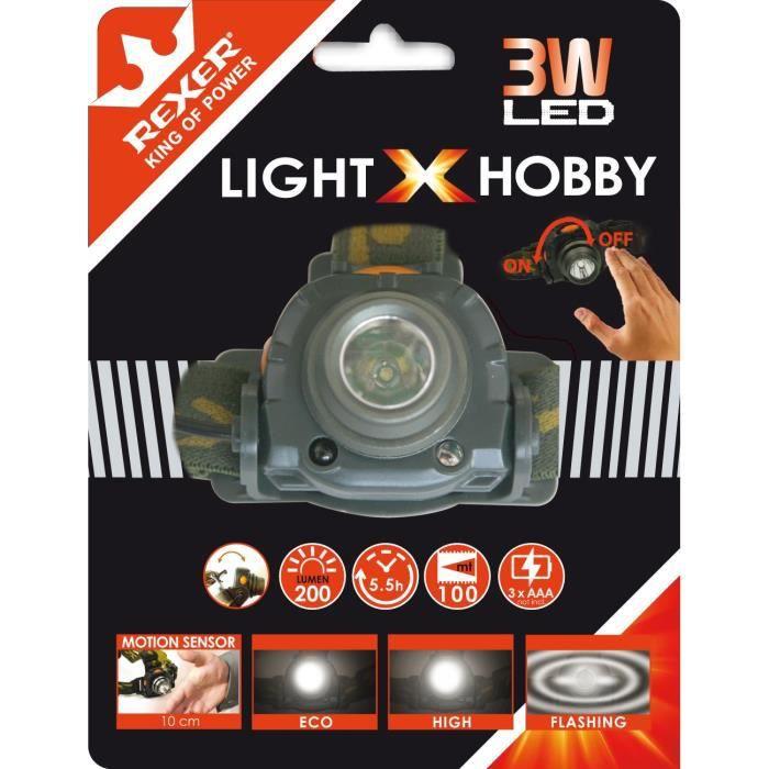 REXER Lampe frontale sensor - 3W - 200 lm