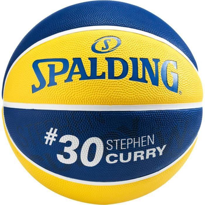 SPALDING - Ballon de basket NBA - Signature Stephen Curry - Golden State Warriors