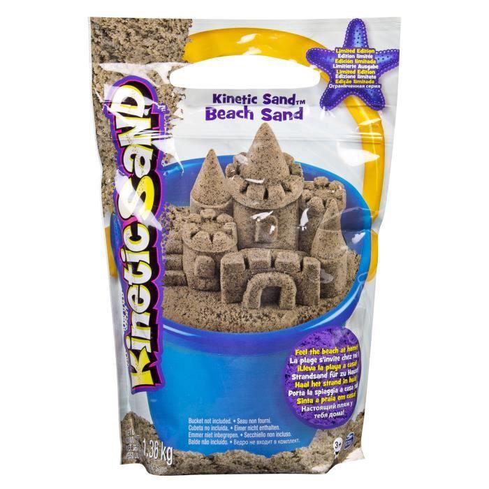 Spin Master Kinetic Sand Beach Sand 1.4 kg, Naturel, 3 année(s), Garçon-Fille, United States, 1,36 kg, 203,2 mm