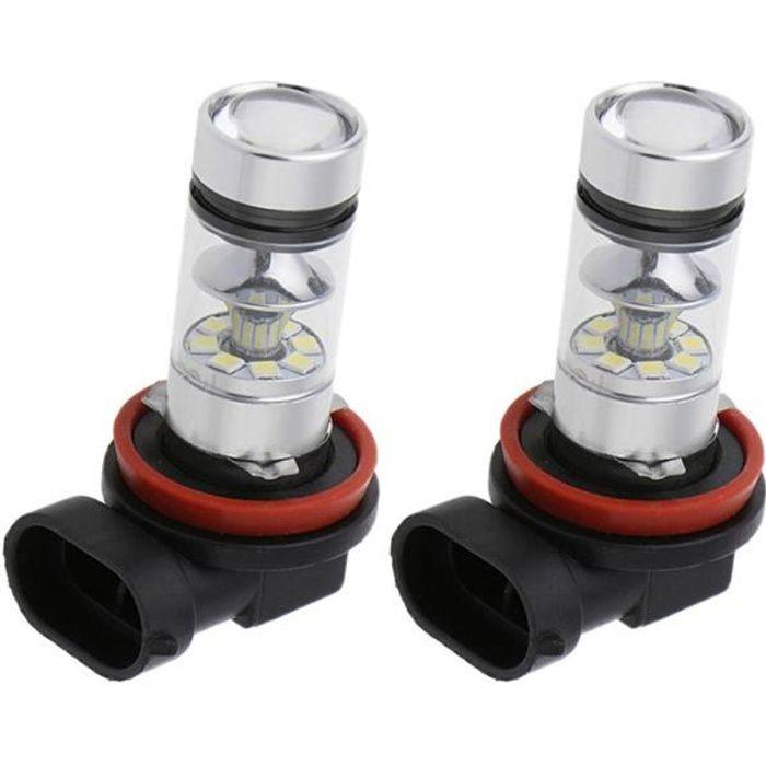 2x Ampoule LED H11 H16 100W Remplacement Éclairage Lampe De Voiture
