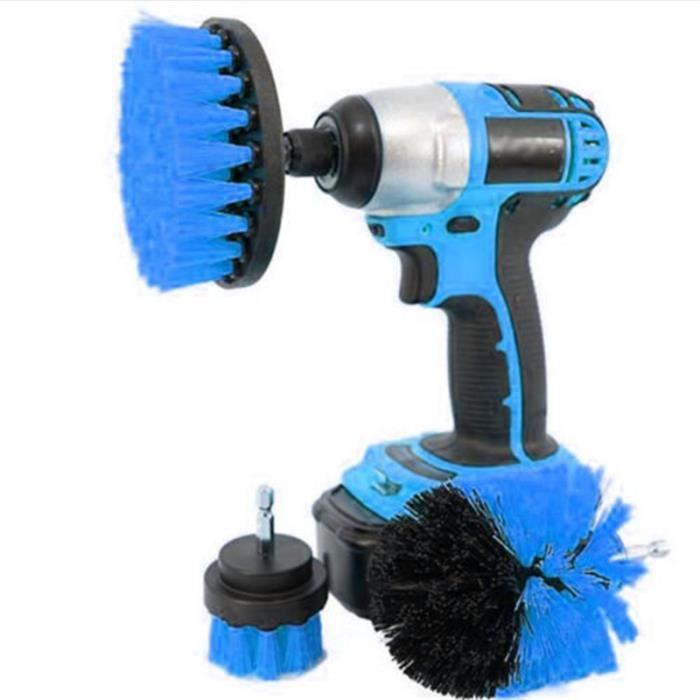 Brosse de lavage de voiture perceuse à poils dur auto détaillant les outils de nettoyage 3pcs / set