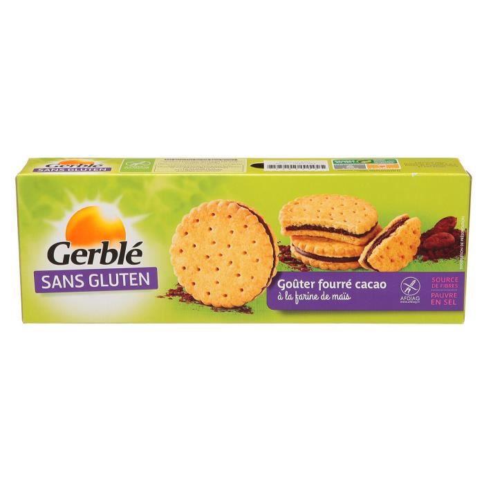GERBLE Gouter fourré sans gluten - Cacao - 225g