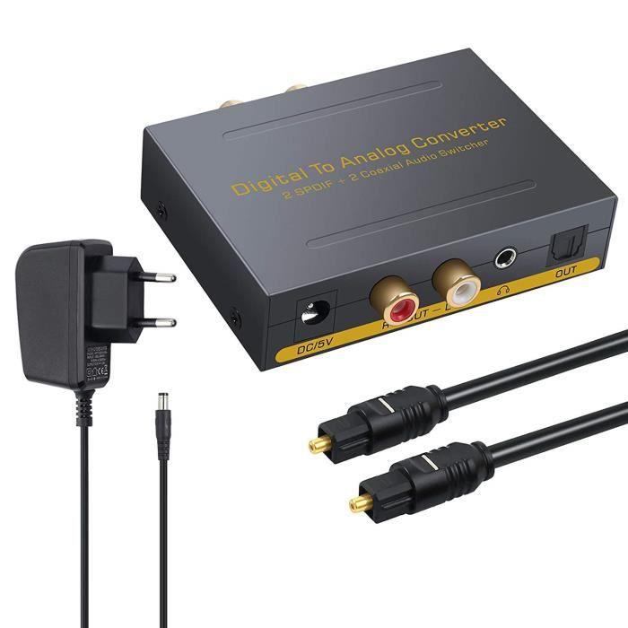 REPARTITEUR TV DAC Convertisseur Numérique Coaxial SPDIF Optique