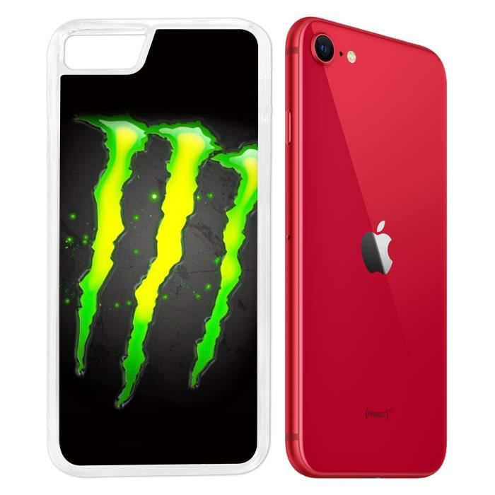 Coque iPhone SE 2020 - Monster Energy Logo Glow. A