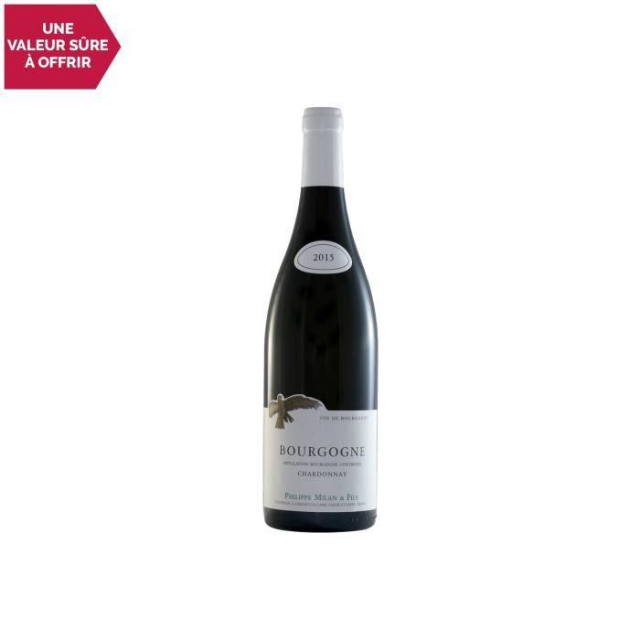 VIN BLANC Bourgogne Blanc 2015 - Domaine Milan - Vin AOC Bla