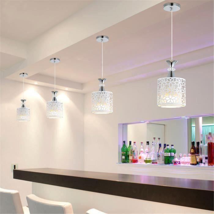 E27 Moderne Suspension Cristal Lampe Fleur Plafonnier Luminaire Fer Suspendu Eclairage Lustre Salle à Manger T0ca91