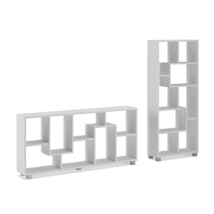tag re biblioth que design salon salle manger blanc mate dimensions 68 5 x 161 x 25 cm de. Black Bedroom Furniture Sets. Home Design Ideas